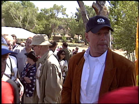 bruce willis at the painted turtle camp opening on may 22 2004 - bruce willis stock-videos und b-roll-filmmaterial