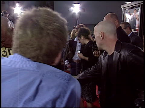 bruce willis at the premiere of 'the whole ten yards' at grauman's chinese theatre in hollywood california on april 7 2004 - bruce willis stock videos and b-roll footage
