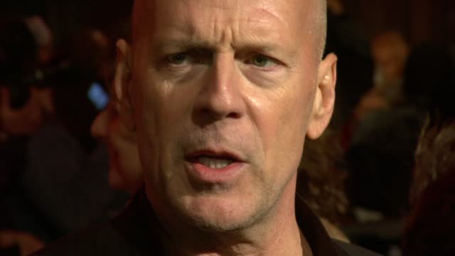bruce willis at the red uk premiere at london england - bruce willis stock videos and b-roll footage
