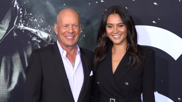 bruce willis emma heming at glass new york premiere at sva theater on january 15 2019 in new york city - bruce willis stock videos and b-roll footage