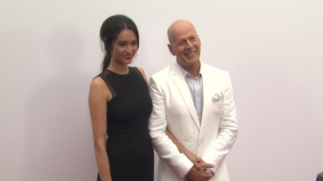 bruce willis emma heming at red 2 los angeles premiere on 7/11/2013 in westwood ca - bruce willis stock videos and b-roll footage