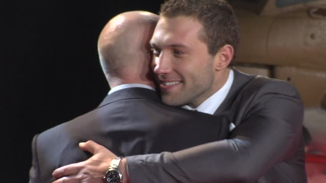 bruce willis jai courtney at 'a good day to die hard' uk premiere at empire leicester square on february 07 2013 in london england - bruce willis stock videos and b-roll footage