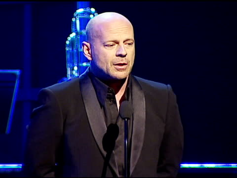 bruce willis on tony bennett singing at carnegie hall at the singers and songs celebration of tony bennett's 80th birthday by raising funds for... - bruce willis stock videos and b-roll footage