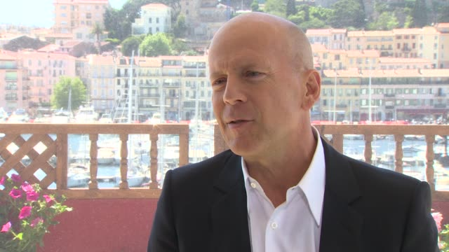 Bruce Willis on Wes Anderson picking his cast at Moonrise Kingdom Interviews 65th Cannes Film Fest on May 17 2012 in France