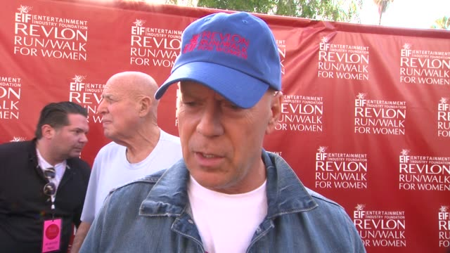 interview bruce willis on why it was important for him to attend what he finds inspiring about the women at the event why this cause is important to... - bruce willis stock videos and b-roll footage