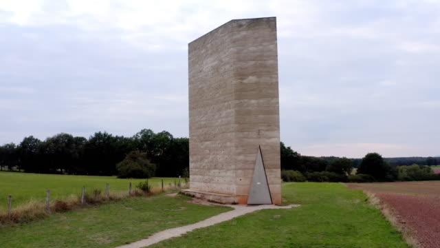 bruder-klaus-feldkapelle (bruder-klaus field chapel) in the eifel mountains - chapel stock videos & royalty-free footage