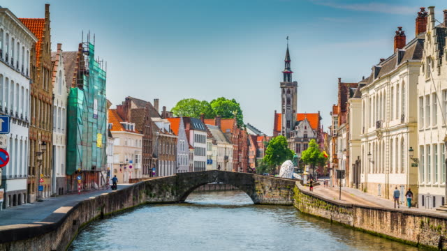 bruges, belgium - western european culture stock videos & royalty-free footage