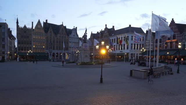 Bruges, in Belgium at dusk.