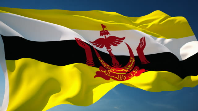 4K Brunei Flag - Loopable