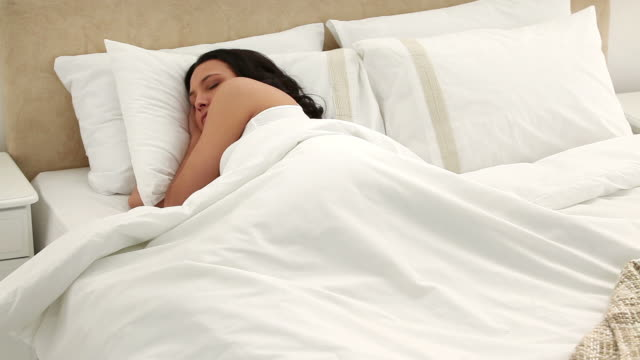 Brunette sleeping peacefully