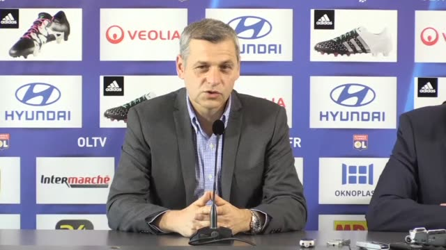 bruno genesio took charge on monday of french ligue 1 mid table team lyon replacing former head coach hubert fournier who was removed from the... - olympique lyonnais stock videos and b-roll footage