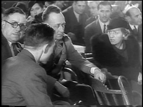 bruno hauptmann talking to wife at lindbergh kidnapping trial / flemington nj - 1935 stock videos & royalty-free footage