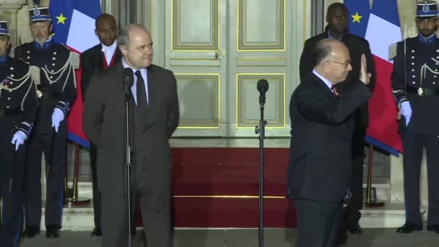 bruno le roux leader of the socialists in the lower house of parliament has been promoted to interior minister of france a post previously held by... - bernard cazeneuve stock videos & royalty-free footage