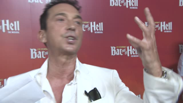 interview bruno tonioli on meat loaf his wide range of singing strictly come dancing working with paul hollywood shirley ballas being a new judge on... - london coliseum stock videos and b-roll footage