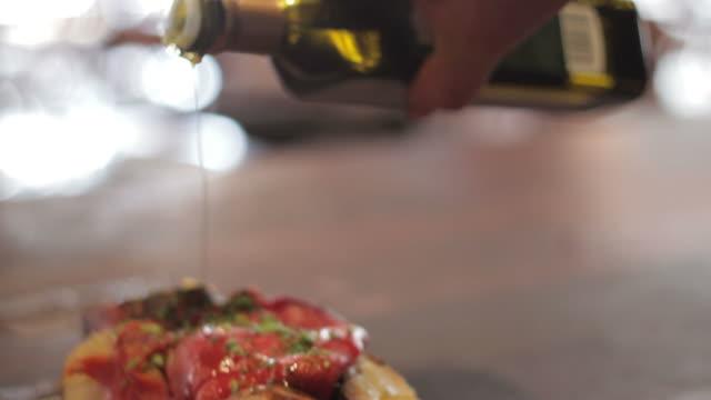 Bruschetta with olive oil