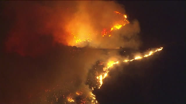 KTLA A brush fire burning in the foothills above Sylmar Lake View Terrace and SunlandTujunga scorched 11000 acres burned multiple structures and...