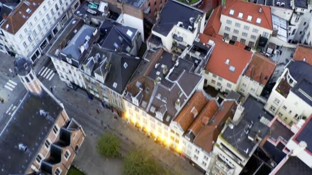 brussel/belgium oct27 2019:drone aerial view of old tradition buiilding - history stock videos & royalty-free footage