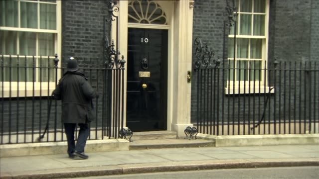 cobra meeting departures england london downing street ext priti patel mp from number 10 and into car/ sajid javid mp departure/ chris grayling mp... - priti patel stock-videos und b-roll-filmmaterial