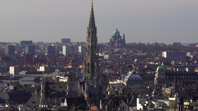brussels cityscape - brussels capital region stock videos & royalty-free footage