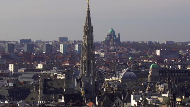 brussels cityscape - ブリュッセル首都圏地域点の映像素材/bロール