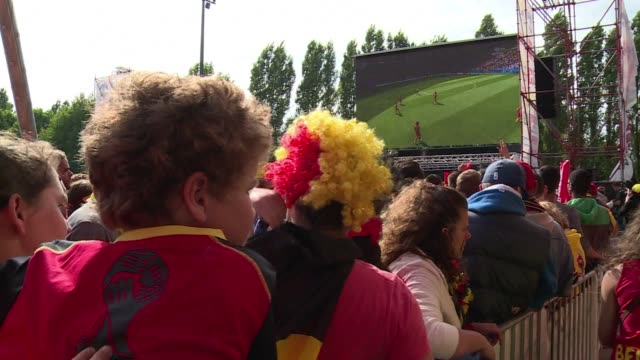 stockvideo's en b-roll-footage met brussels hopes to make it to semi finals for the first time since 1986 were dashed by argentinas 10 win over belgiums red devils - geloof