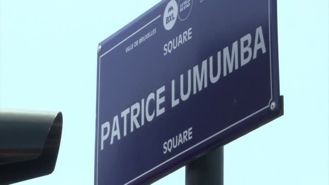 brussels inaugurates patrice lumumba square named after assassinated congolese independence hero patrice lumumba - independence stock videos & royalty-free footage