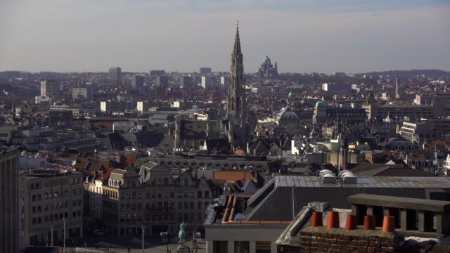 brussels skyline - brussels capital region stock videos & royalty-free footage