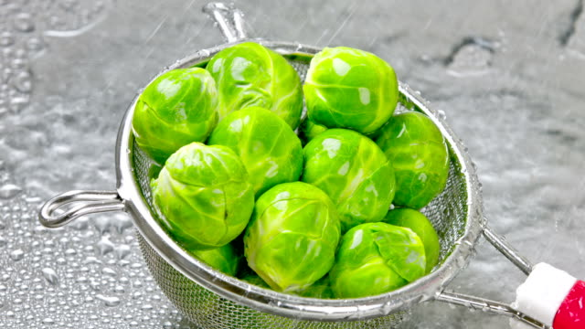 brussels sprouts. - brussels sprout stock videos & royalty-free footage