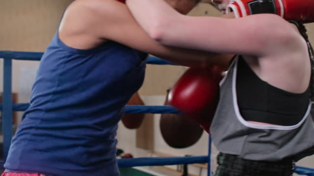brutal female fight - boxing women's stock videos & royalty-free footage