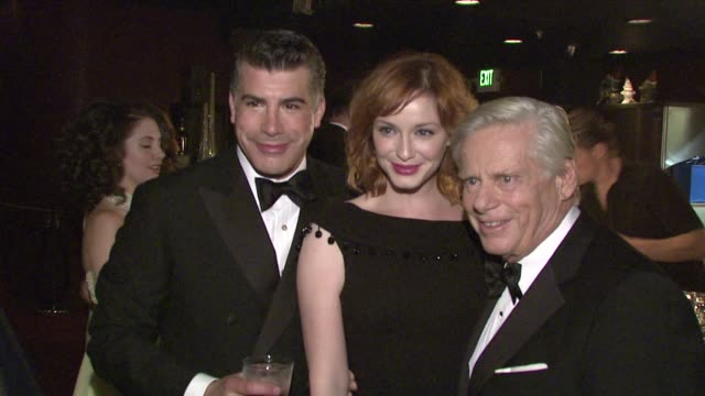 bryan batt and christina hendricks and robert morse at the lionsgate presents the live revue a night on the town with 'mad men' at los angeles ca - revue stock videos and b-roll footage