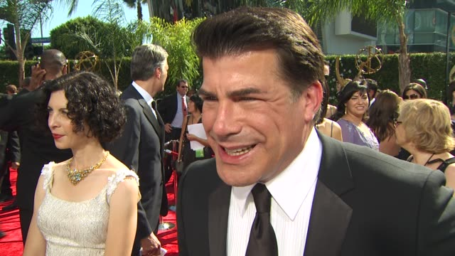 bryan batt on his show's nomination who will speak on behalf of the show who he's rooting for at the 61st annual primetime emmy awards arrivals at... - annual primetime emmy awards stock-videos und b-roll-filmmaterial