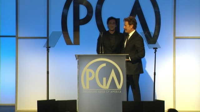 speech bryan cranston adrien brody at 26th annual producers guild awards in los angeles ca - adrien brody stock videos and b-roll footage