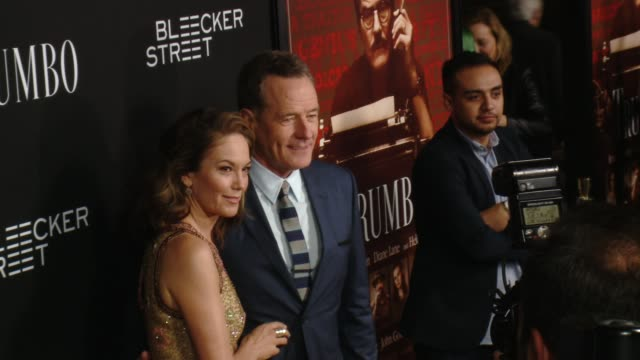 bryan cranston and diane lane at the trumbo los angeles premiere at the academy of motion picture arts and sciences on october 27 2015 in beverly... - academy of motion picture arts and sciences stock-videos und b-roll-filmmaterial