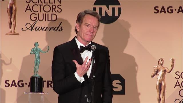 SPEECH Bryan Cranston at 23rd Annual Screen Actors Guild Awards Press Room in Los Angeles CA