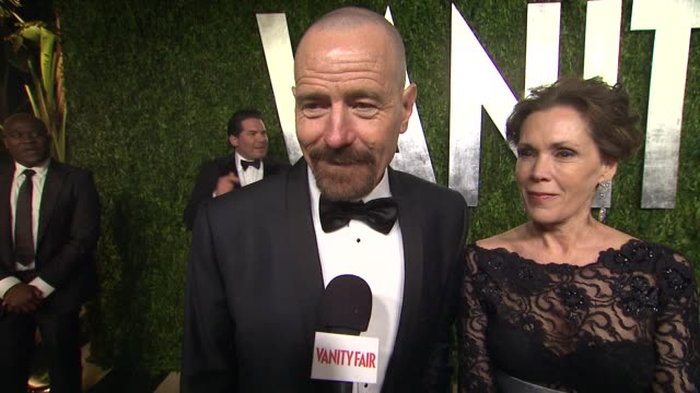 INTERVIEW Bryan Cranston at The 2013 Vanity Fair Oscar Party Hosted By Graydon Carter INTERVIEW Bryan Cranston at The 2013 Vanity Fair at Sunset...