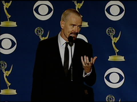 bryan cranston at the 61st annual primetime emmy awards - press room at los angeles ca. - annual primetime emmy awards stock-videos und b-roll-filmmaterial