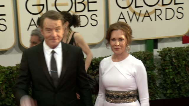 bryan cranston at the 71st annual golden globe awards - arrivals at the beverly hilton hotel on in beverly hills, california. - the beverly hilton hotel stock videos & royalty-free footage