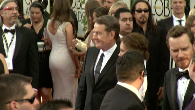 Bryan Cranston at the 71st Annual Golden Globe Awards Arrivals at The Beverly Hilton Hotel on in Beverly Hills California
