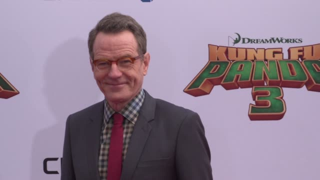 bryan cranston at the 'kung fu panda 3' world premiere at tcl chinese theatre on january 16, 2016 in hollywood, california. - tcl chinese theatre stock-videos und b-roll-filmmaterial