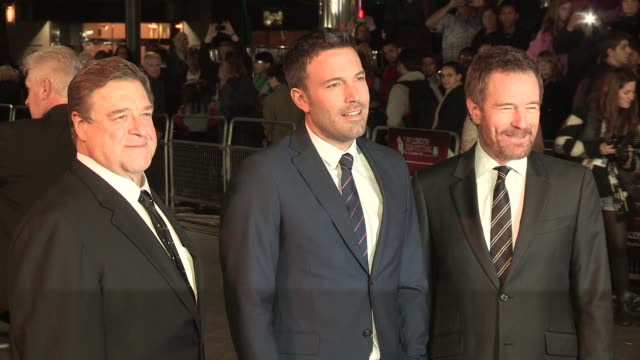 bryan cranston ben affleck and john goodman at argo premiere 56th bfi london film festival 2012 at odeon leicester square on october 17 2012 in... - ben affleck stock videos & royalty-free footage