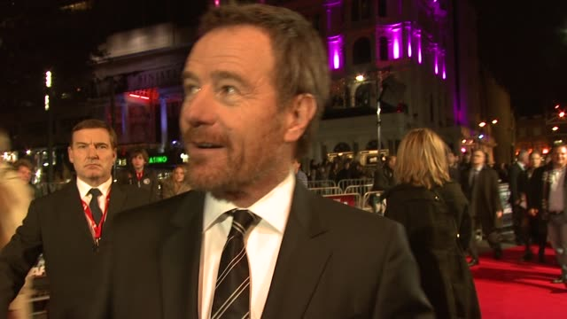 bryan cranston on being at the film festival working with ben affleck at argo premiere 56th bfi london film festival 2012 at odeon leicester square... - ben affleck stock videos & royalty-free footage