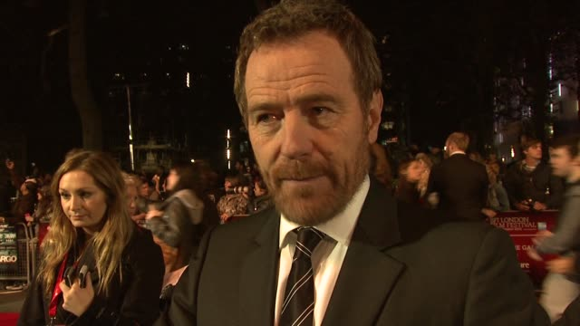 bryan cranston on being proud of the film the message the film carries how he see's the film at argo premiere 56th bfi london film festival 2012 at... - film festival stock videos & royalty-free footage