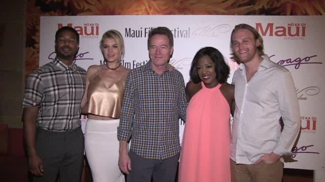 Bryan Cranston Viola Davis Michael B Jordan Wyatt Russell and Kelly Rohrbach on June 16 2016 in Wailea Hawaii