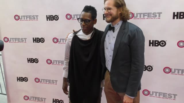 bryan fuller & orlando jones at the 2017 outfest los angeles lgbt film festival opening night gala of god's own country at orpheum theatre on july... - orlando jones stock videos & royalty-free footage