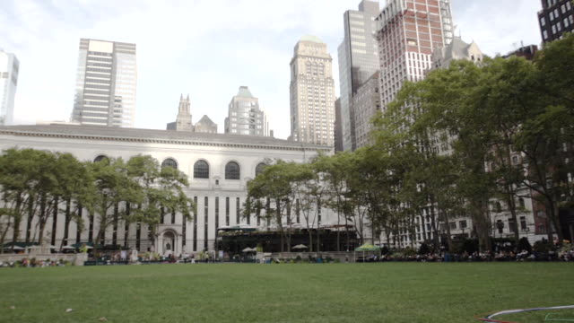 Bryant Park - establishing shot - New York City - summer 2016
