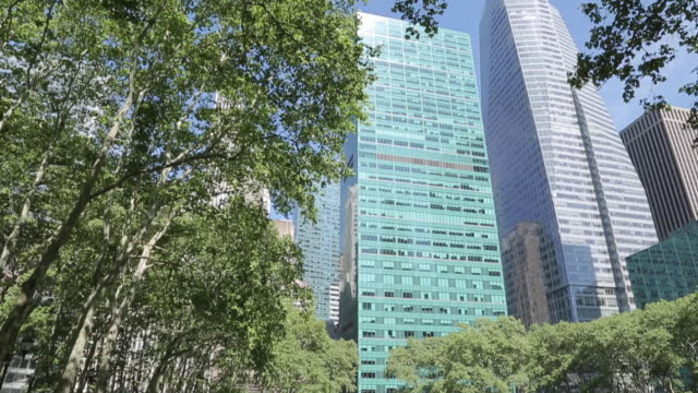 bryant park, manhattan, new york city, new york, usa, north america - bryant park stock videos and b-roll footage