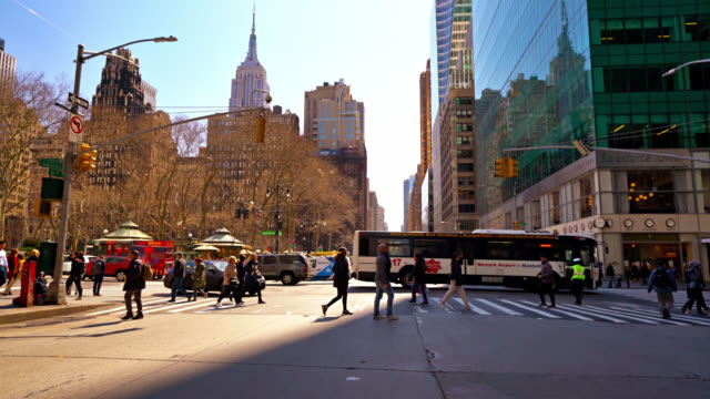 bryant park. midtown manhattan. new york - urban road stock videos & royalty-free footage