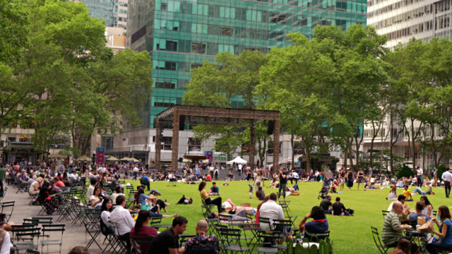 bryant park. new york - bryant park stock videos and b-roll footage
