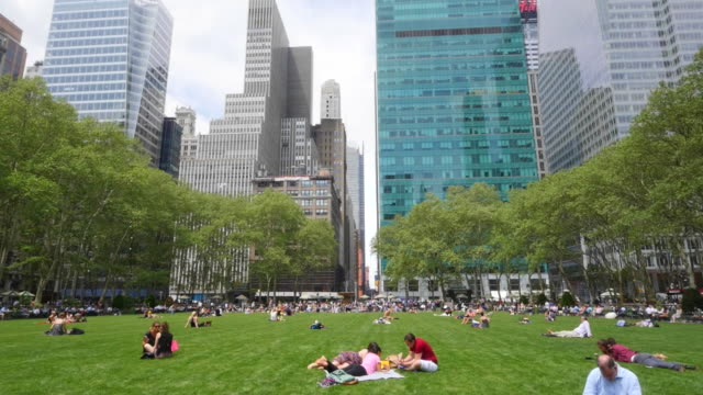bryant park, steady cam - bryant park stock videos and b-roll footage