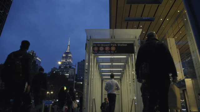 bryant park subway station - bryant park stock videos and b-roll footage